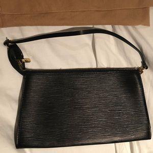 Authentic Louis Vuitton Black Epi Leather Pochette